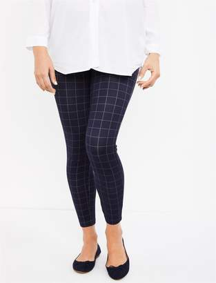 A Pea in the Pod Under Belly Plaid Ponte Skinny Leg Maternity Pants