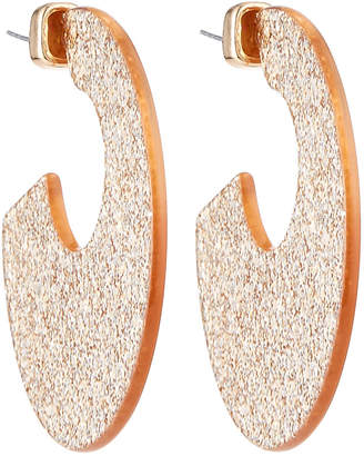 Stella & Ruby Sparkle Thick Hoop Earrings Gold