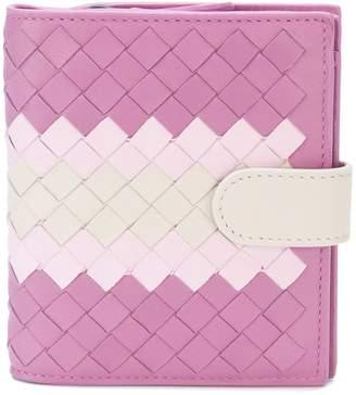 Bottega Veneta twilight Intrecciato lamb club mini wallet