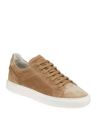 Brunello Cucinelli Men's Suede Low-Top Sneakers