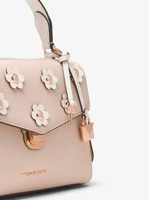 MICHAEL Michael Kors Bristol Small Floral Applique Leather Satchel
