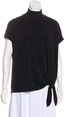 By Malene Birger Short Sleeve Tie-Front Top