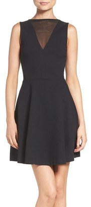 Women's French Connection 'Viola' Stretch Fit & Flare Dress $148 thestylecure.com