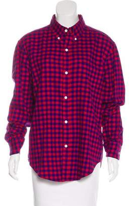 Band Of Outsiders Checkered Flannel Top