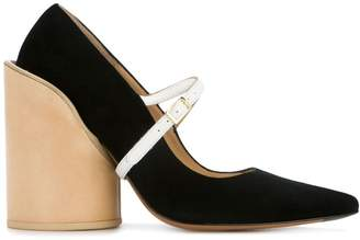 Jacquemus geometric block heel pumps