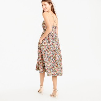 Tall lace-up back dress in Liberty® Thorpe floral $148 thestylecure.com