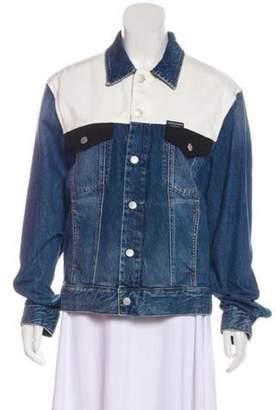 Calvin Klein Jeans Colorblock Denim Jacket w/ Tags blue Colorblock Denim Jacket w/ Tags