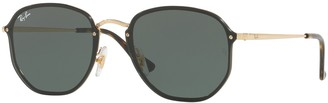 Ray-Ban Blaze RB3579N 58mm Hexagonal Sunglasses