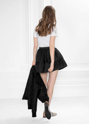 Jacquard Ruffle Skirt