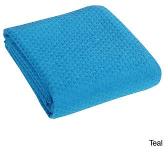 +Hotel by K-bros&Co Hotel Luxury Collection Classic All Seasons Super Soft Lightweight Cotton Blanket, Twin, Teal