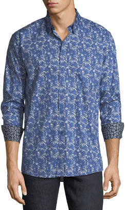 Duchamp Mixed Micro Medallion Sport Shirt