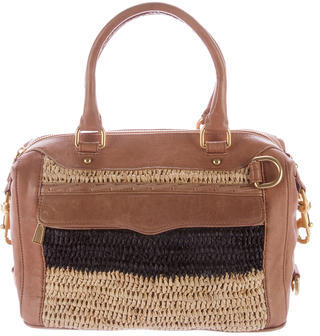 Rebecca Minkoff Straw-Paneled Leather Satchel $95 thestylecure.com
