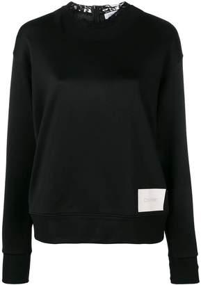 Calvin Klein lace collar sweatshirt