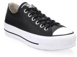 Converse Women's Lift Leather Platform Sneakers - Black - Size US 8 / UK 6