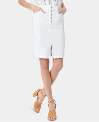 Joe's Jeans Joe Jeans Denim Button-Fly Pencil Skirt