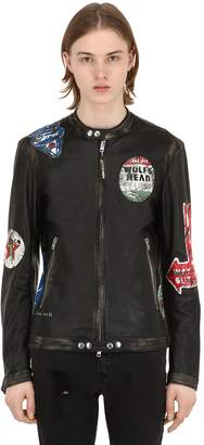 S.W.O.R.D. 6.6.44 Race Hand Painted Patches Leather Jacket