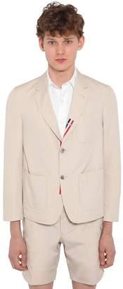 Thom Browne Deconstructed Cotton Blend Jacket