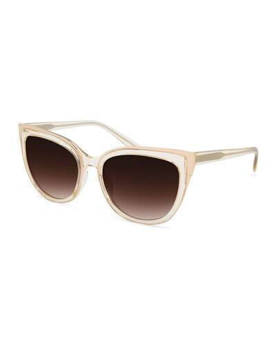Barton Perreira Barton Perreira Winette Universal-Fit Cat-Eye Sunglasses, Neutral