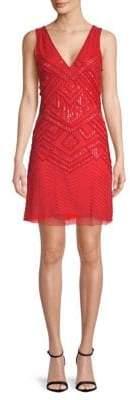 Parker Lucy Embroidered Silk Slip Dress