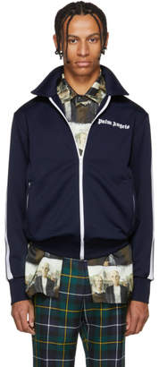 Palm Angels Blue Collared Track Jacket