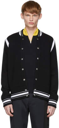 Givenchy Black and White Teddy 4G Varsity Bomber Jacket