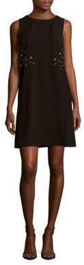 Roundneck Sleeveless Shift Dress $168 thestylecure.com