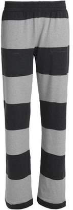 Norma Kamali Striped Stretch-Cotton Jersey Track Pants