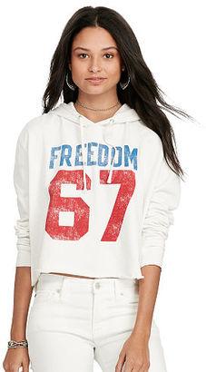 Ralph Lauren Denim & Supply Cropped Graphic Hoodie $79.50 thestylecure.com