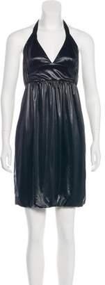 Poleci Mini Halter Dress