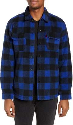 Levi's Plaid Faux Shearling Shirt