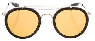 Rag & Bone Round Leather Sunglasses w/ Tags