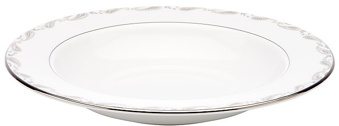 "Marchesa by Lenox ""Paisley Bloom"" Rim Soup Plate"