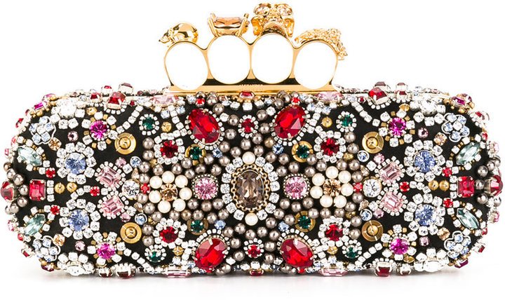 Alexander McQueen Alexander McQueen Knuckle long box clutch