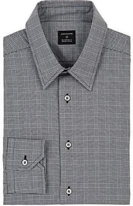 John Vizzone JOHN VIZZONE MEN'S CHECKED COTTON POPLIN DRESS SHIRT - DARK GRAY SIZE 14.5