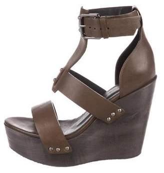 AllSaints Leather Platform Sandals