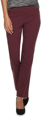 Apt. 9 Petite Brynn Pull-On Straight-Leg Dress Pants