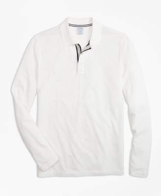 Brooks Brothers Slim Fit Long-Sleeve Supima Oxford Polo Shirt
