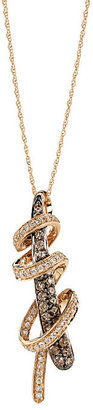 Le Vian 14ct Strawberry Gold Chocolate Diamond pendant