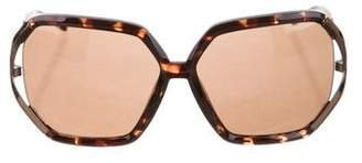 Gianfranco Ferre Hexagon Tinted Sunglasses