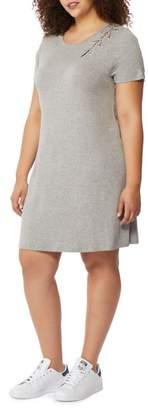 Rebel Wilson X Angels Laced Shoulder T-Shirt Dress