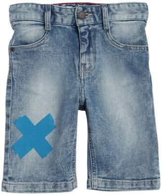 Little Marc Jacobs Stretch Cotton Denim Shorts