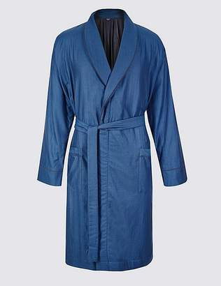 Marks and Spencer Pure Cotton Striped Dressing Gown