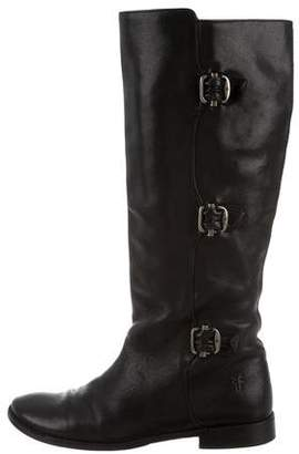 Frye Round-Toe Leather Knee-High Boots