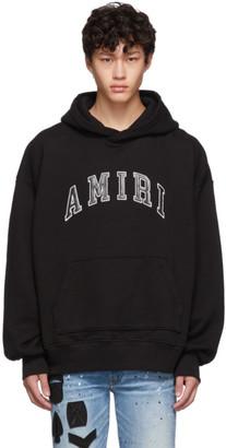 Amiri Black Logo College Hoodie