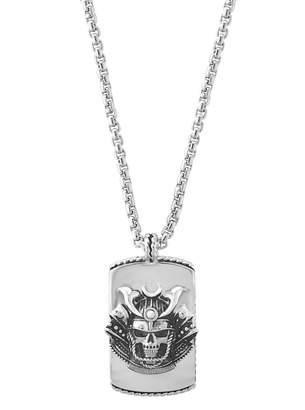 Effy Sterling Silver Skull Pendant Necklace