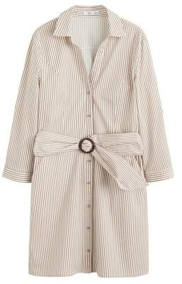 MANGO Belt shirt dress