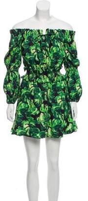 Caroline Constas Off Shoulder Mini Dress
