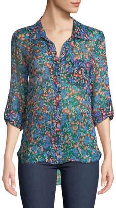 Diane von Furstenberg Lorelei Two Collared Silk Blouse