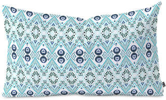 Deny Designs Amy Sia Ikat Java Blue Mini Oblong Throw Pillow