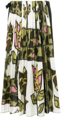 Ter Et Bantine printed pleated maxi skirt